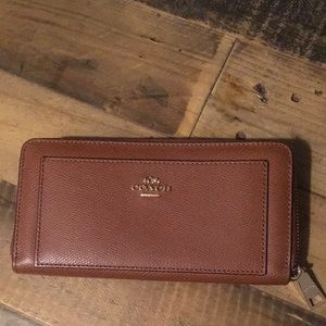 Zip around coach wallet